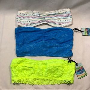 NWT bundle of 3 hollister, gilly Hicks bandeau